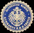 Siegelmarke Kaiserliche Marine - Kommando der S.M.S. Thetis W0262542.jpg
