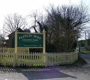 English: Sign 'Flitch Way Country Park' This i...
