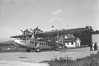 Oslo Airport location controversy - Sikorsky S-43 at Gressholmen Airport in 1936