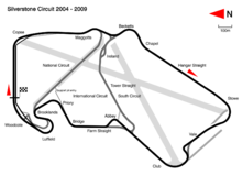 Silverstone Circuit in its 2004 configuration