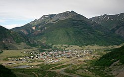 Skyline of Town of Silverton, Colorado