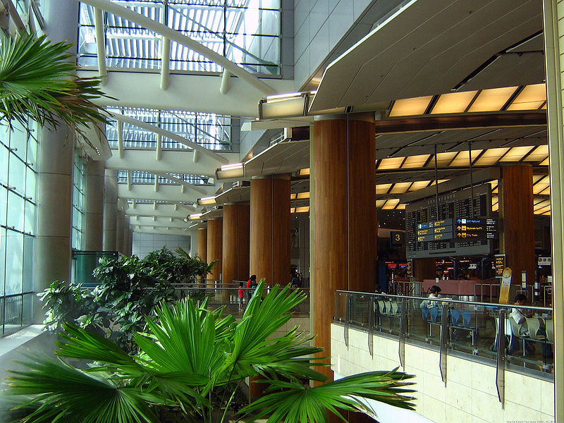 File singapore changi airport departure hall indoor garden for Indoor gardening singapore