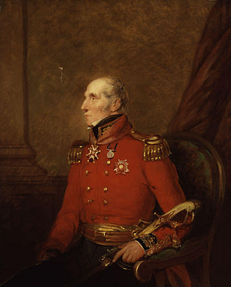 John Waters (British Army officer, born 1774) - portrait, oil on canvas, of Sir John Waters  by William Salter