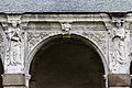 Sixième arcade de la galerie ouest du cloître de l'ancienne abbaye saint Melaine, Rennes, France.jpg
