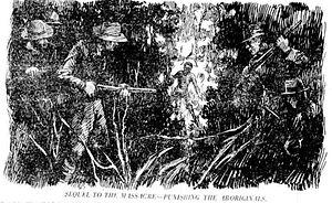 Hornet Bank massacre - 1925 sketch of the retaliation