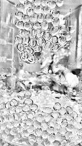 Sodium alginate beads in a beaker.jpg