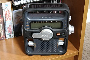 Solar-powered radio - A typical solar powered radio receiver