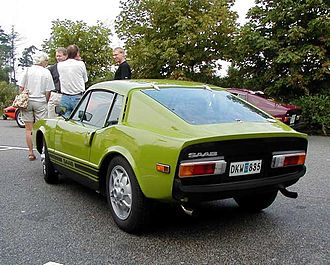 Saab Sonett - Rear view of a 1972 Saab Sonett III in green
