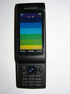 Sony Ericsson Aino (U10i), black, front, colorful display.JPG