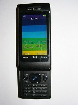 Sony Ericsson Aino - Image: Sony Ericsson Aino (U10i), black, front, colorful display