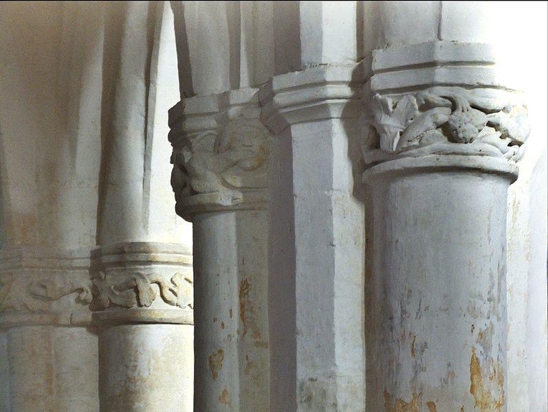 Chapiteaux de l'église de Soudron