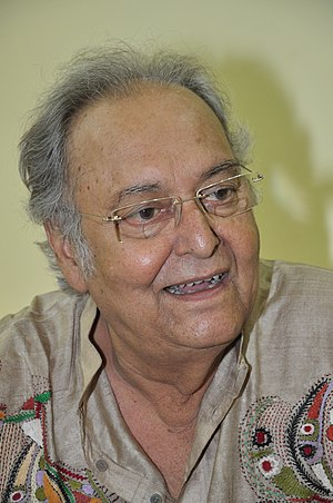 Soumitra Chatterjee - Soumitra Chatterjee inaugurating a Puja at Behala in 2013