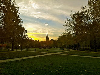 Notre Dame, Indiana - Campus of the University of Notre Dame