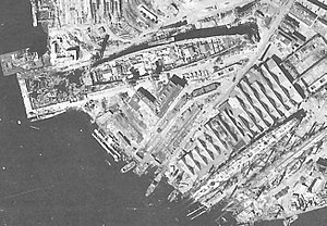 Sovetsky Soyuz-class battleship - German reconnaissance picture of the Sovetsky Soyuz taken in June 1942