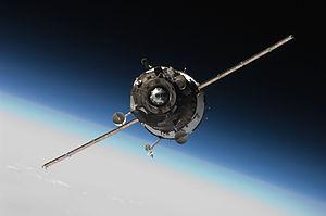 Soyuz TMA-16 - The Soyuz TMA-16 spacecraft approaches the International Space Station