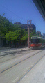 Spadina streetcar heads south to the Sullivan street stop.png