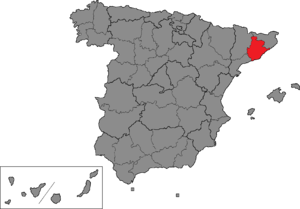 Barcelona (Congress of Deputies constituency) - Location of Barcelona within Spain