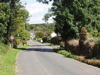 English: Speed limit at entrance to Ballycashi...