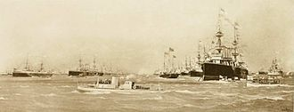 Turbinia - Turbinia at the Spithead Navy Review, 1897.