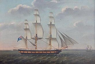 Robert (1793 ship) - Image: Spy, Captain Welham Clarke, off Wight (cropped)