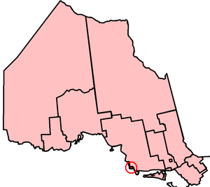 Sault Ste. Marie (provincial electoral district) - Sault Ste. Marie in relation to other Northern Ontario electoral districts