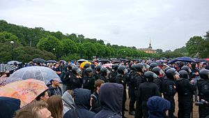 OMON - Saint Petersburg, Field of Mars, 12 June 2017, OMON during the rally