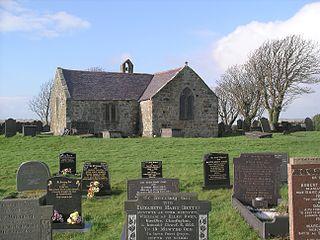 St Baglans Church, Llanfaglan Church in Gwynedd, Wales