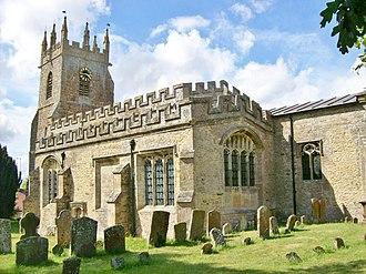 Somerton, Oxfordshire - Image: St James, Somerton from East