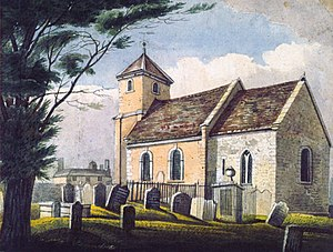William Hunt Painter - St James church in Stirchley by James Holmes Smith c. 1850