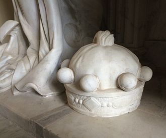 Coronet - Depiction of a baron's coronet on a 17th-century funerary monument