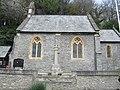 St Matthew's Church, Lee, Devon, with war memorial.jpg