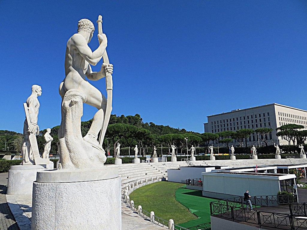 Foro Italico : Stadio dei Marmi à Rome. Photo de Mister No