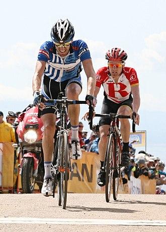 Levi Leipheimer - Leipheimer trails Rory Sutherland in 2011 Tour of California
