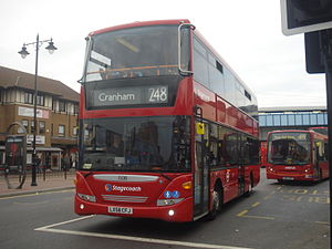 Stagecoach 15018 on Route 248, Romford Station.jpg