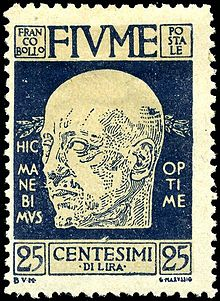 Poštanska marka iz 1920. godine s likom Gabrielea d'Annunzia