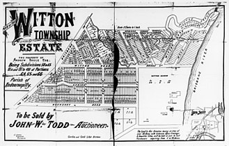 Indooroopilly, Queensland -  Witton Township real estate map, Indooroopilly, ca. 1880s