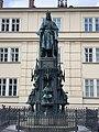 Statue of Charles IV at Křižovnické náměstí (July 2019) - 2.jpg