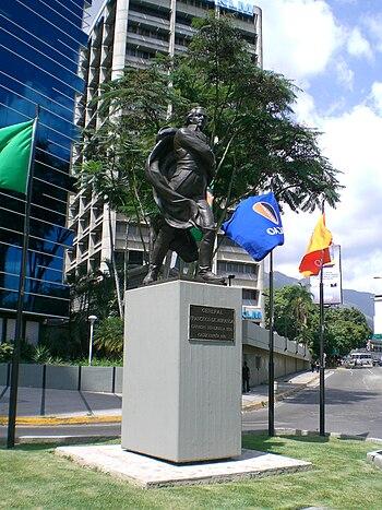 Statue of Francisco de Miranda%2C Chacao%2C Caracas