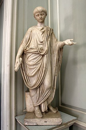 Nero - Statue of Nero as a boy