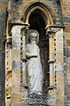 Statue of saint in niche, Llandaff Cathedral (8100703498).jpg