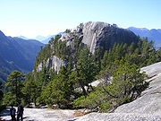 The Stawamus Chief is a granite monolith in British Columbia