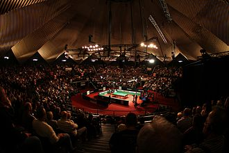 Tempodrom - Interior of main arena as seen during the 2012 German Masters snooker tournament