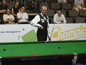 English: Steve Davis on the Warsaw Snooker Tou...