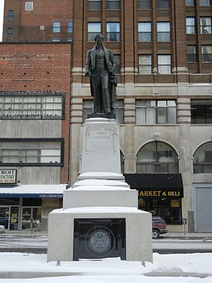 Stevens T. Mason - Renovated Stevens T. Mason Monument in 2011