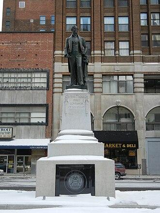 Stevens T. Mason - Renovated Stevens T. Mason Monument in 2011
