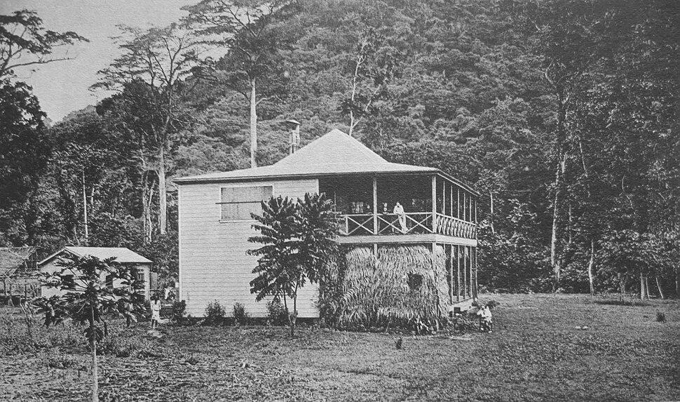 Stevenson's home at Vailima
