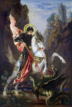 Christian mythology - Saint George and the Dragon by Gustave Moreau.
