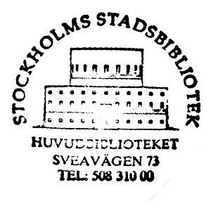Stockholm Public Library - Image: Stockholms stadsbibliotek