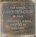 Stolperstein Bamberger Str 22 (Wilmd) Harry Grünbaum.jpg