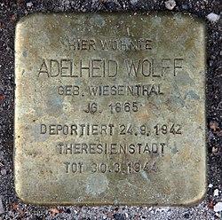 Photo of Adelheid Wolff brass plaque